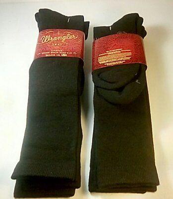 Western Boot Socken (Wrangler Ultra-Dri OTC Western Boot Sock, Large, Black, 4 pr $21.99+FREE SHIP)