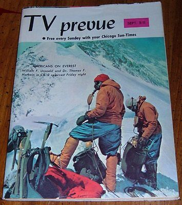 1965 CHICAGO TV PREVUE GUIDE~DAVID McCALLUM~MAN FROM UNCLE~MOUNT EVEREST