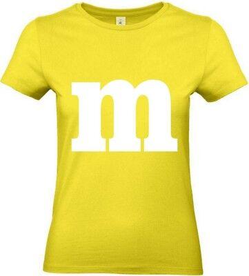 Für M&M Fans Kostüm Damen T-Shirt Tütü Fasching Karneval Gruppenkostüm Dart Top