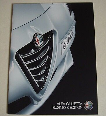 Alfa Romeo . Giulietta . Business Edition . June 2015 Sales Brochure