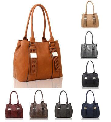 New Ladies Women's Fashion Large Leather Tote Hobo Shopper Shoulder Bag Handbag