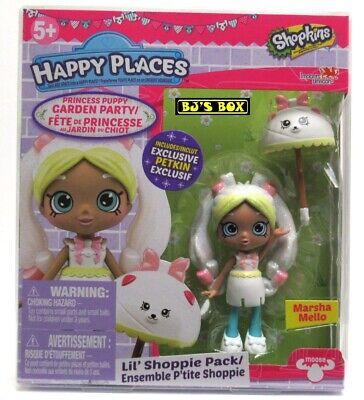 Shopkins Happy Places MARSHA MELLO Princess Puppy Garden Party Shoppie Pack New