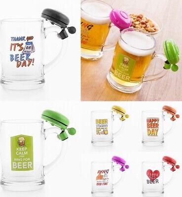 Jarra de cerveza 400 ml con timbre,de vidrio,14x12x8 cm,cocina,menaje,regalo,etc