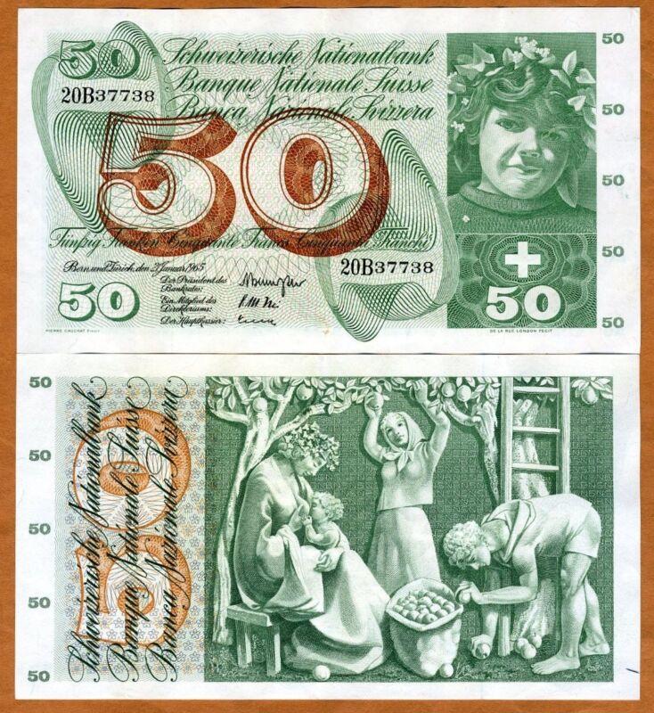 Switzerland, 50 Franken, 1965, P-48 (48f) VF > Scarce