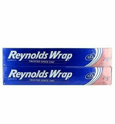 2 Packs Reynolds Wrap Aluminum Foil Roll 12 X 250 Ft Each Pack