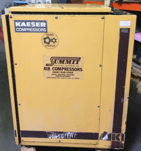 Kaeser Sk19 Rotary Screw Air Compressor 64 Cfm, 15 Hp/3 Ph, 220v