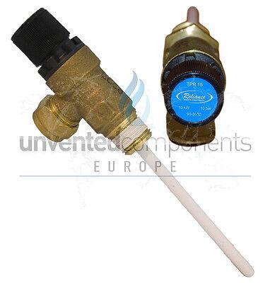 "Reliance Pressure and temperature relief valve 10bar 1/2"" TPR15"