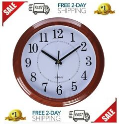 Classic Wall Clock Retro Round Large Numbers 13 for Living Room Kitchen Decor