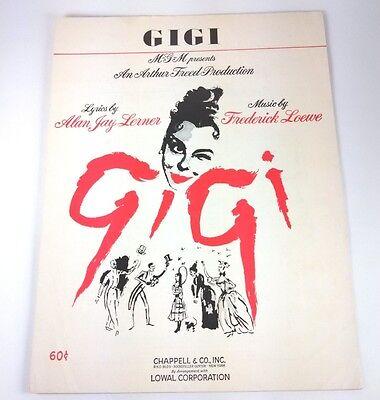 GIGI - SHEET MUSIC - Copyright 1957 & 1958