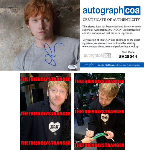 RUPERT GRINT signed Autographed 8X10 Photo PROOF - HARRY POTTER Ron Weasley ACOA