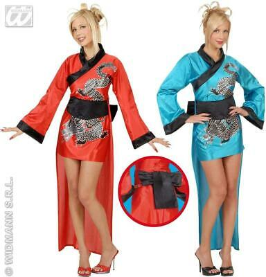 Dragon Girl Red Or Blue Medium UK 10-12 Chinese Fancy Dress - Red Dragon Girl Kostüm