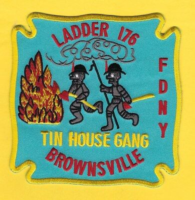 NEW YORK CITY FIRE DEPT LADDER 176 COMPANY PATCH ~ VERY RARE & VERY HARD-TO-FIND