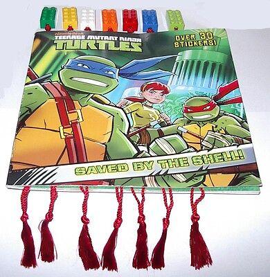 7 Lego Brick Block Bookmarks W/tassel Boy Or Girl Great Keepsake Party Favors