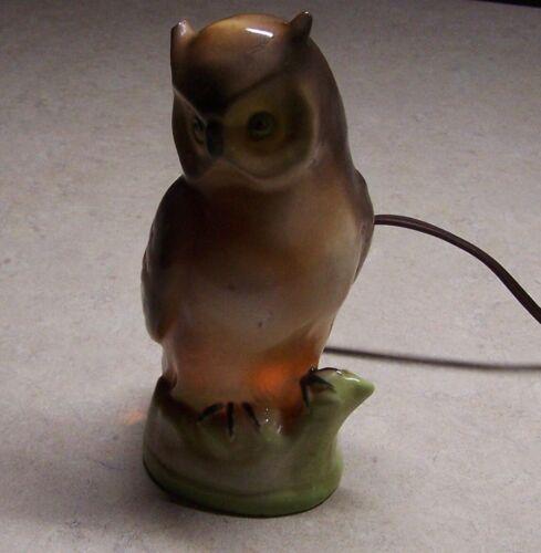 "Vintage Owl Perfume Diffuser / Night Light Lamp Germany 5919 - 6.5"" porcelain"