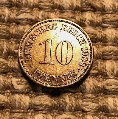 10 Pfennig von 1908 A / Deutsches Reich