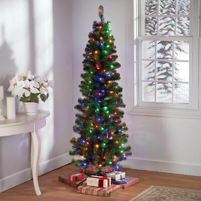 5-Foot Preiluminado 200 LED Cambio de Color Luces Lápiz Árbol de Navidad
