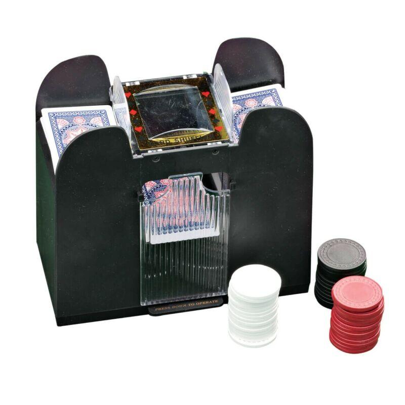 Casino 4-Deck Automatic Card Shuffler Enjoy quick and easy shuffling
