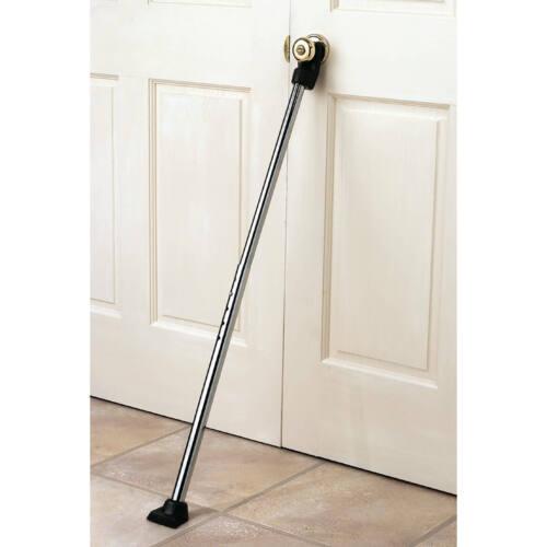Home Security Door Bar Adjustable Pole Brace Stopper Hotel Dorm Safety Lock NEW