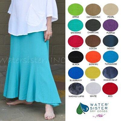 WATERSISTER Cotton Gauze GODET SKIRT Long Mermaid 1(S/M) 2(M/L)3(XL) 2018 - Long Mermaid Skirts