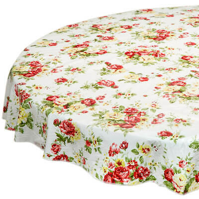Table Cover Vinyl (Country Rose Vinyl Table Cover by Chef's)