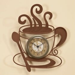 Metal Coffee Cup Clock Made with durable metal
