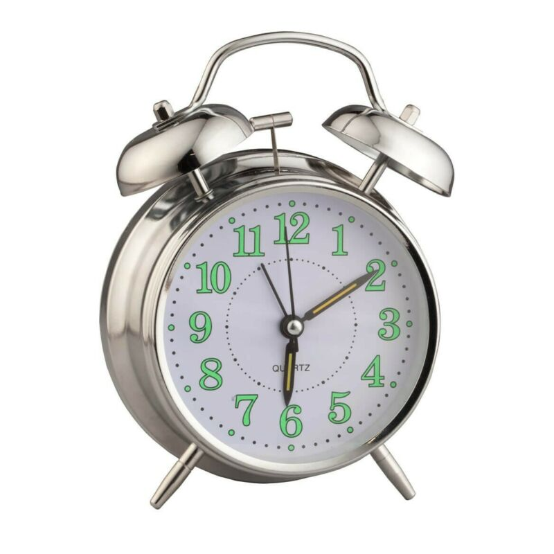 Vintage Glow in the Dark Alarm ClockMade with durable meta Freeship