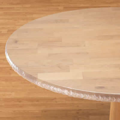 Oval Round Table - FITTED Clear Vinyl Round Oval Oblong Plastic Table Cover Cloth ~