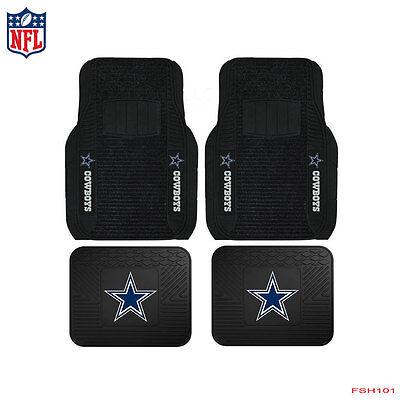 4pcs Set NFL Dallas Cowboys Car Truck Carpet Vinyl Rubber Heavy Duty Floor Mats