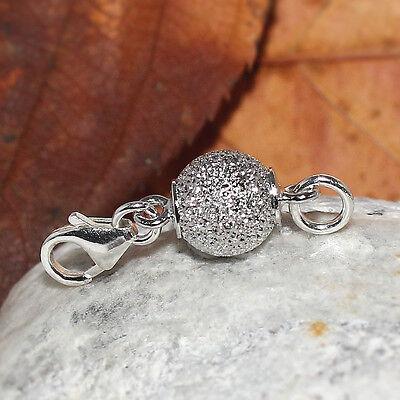 Vario Magnet Schließe rhodiniert Verschluss Karabiner 925 Silber diamantiert 8mm