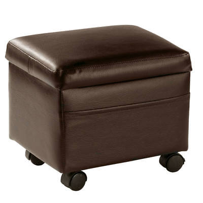 Ottoman Storage Cube With Removable Flip Lid Coffee Table Accent Modern Footrest