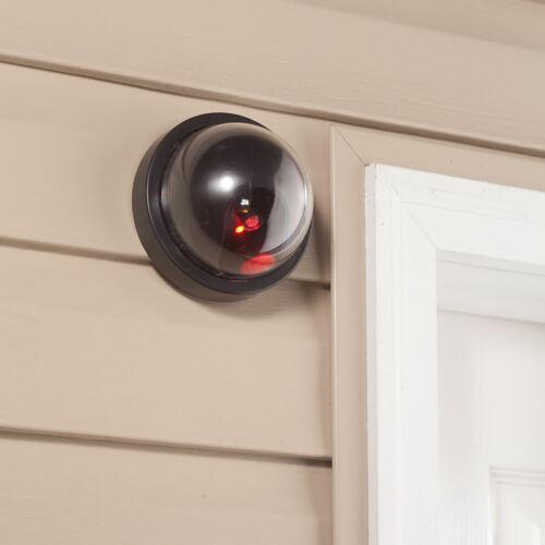 Mock Dome Surveillance Camera With LED Sensor Light Security Fake Dummy CCTV NEW