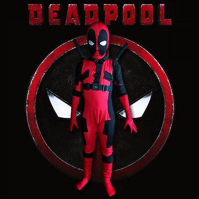 Deadpool Kostüm Kinder Jungen Overall X-MEN Zentai Bodysuit Karneval fancy - Deadpool Kostüm Elasthan