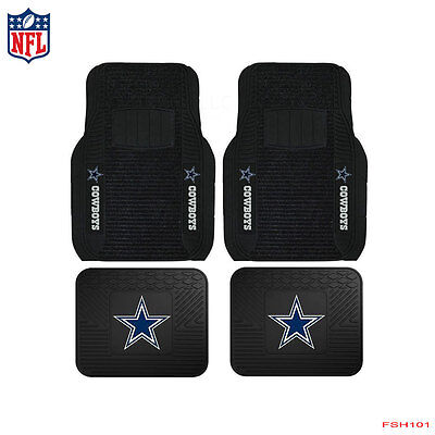 New NFL Dallas Cowboys Car Truck Front / Rear Rubber Heavy Duty Floor Mats