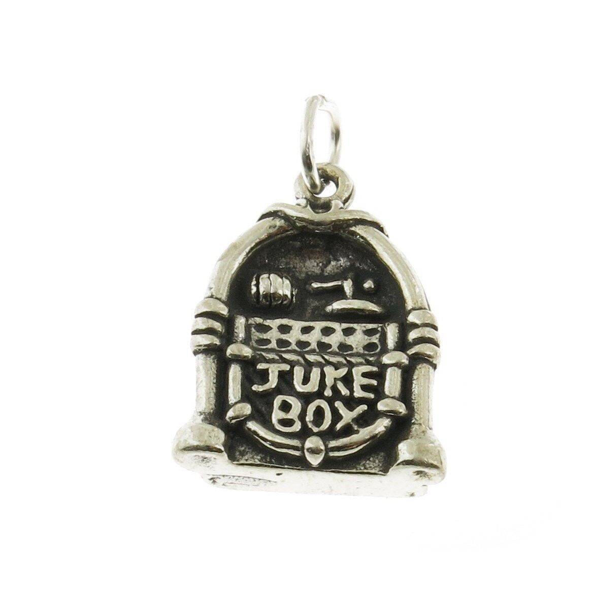 925 sterling silver jukebox charm made in