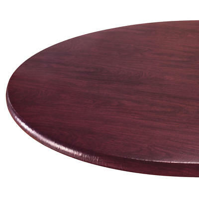 Wood Grain Vinyl Elastic Table Cover with Fleece Backing in 3 Sizes, Reusable,](Vinyl Table Covers)
