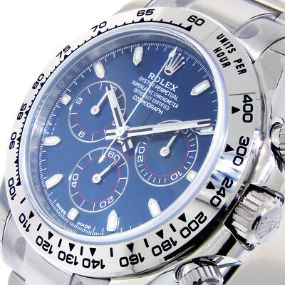 ROLEX 116509 DAYTONA BLUE COSMOGRAPH 40 mm 18K WHITE GOLD CHRONOGRAPH 116509