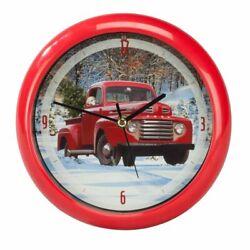 Ford® Holiday Pickup Truck Christmas Sound Clock 8 in Mark Feldstein
