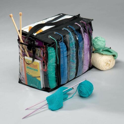 Knitting Tote Bag, 6 Skein Tangle Free Yarn Crocheting Storage UNBEATABLE PRICE!