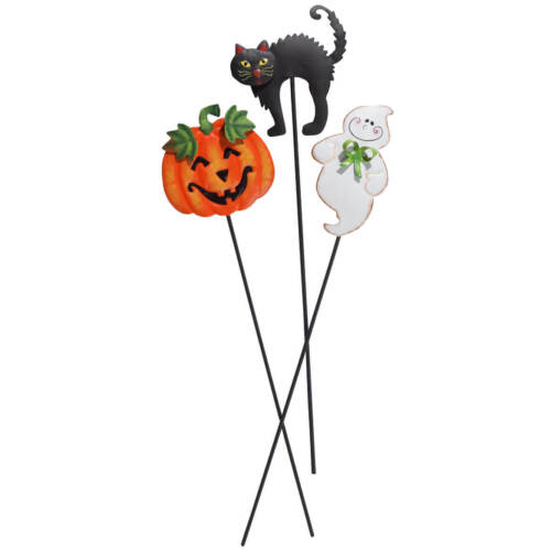 Halloween Planter Stakes Set of 3 by Fox River Creations For quick Freeship