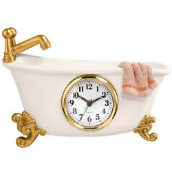 Small Clock For Bathroom Clawfoot Tub Bathtub Wall Bath Decorative Vintage Retro