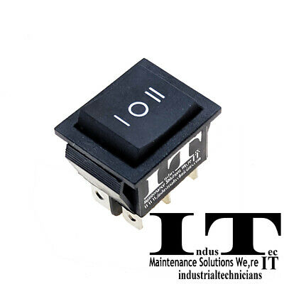Dpdt 20a Momentary Rocker - Switch 6 Pin On Off On 12v Dc 14 Quick Plug .25