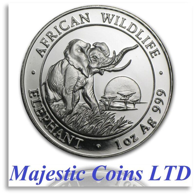 2009 Somalia Elephant SilverAfrican Wildlife 1 Oz .999