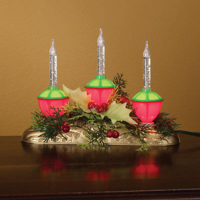 Christmas Centerpiece Decor Xmas Lighted Tabletop Old Fashioned Bubble Lights - Christmas Centerpiece Decorations