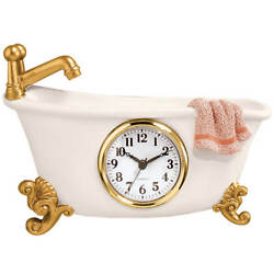 Old Fashioned Claw Foot Antique Style Vintage Bathtub Wall Clock Bathroom Decor