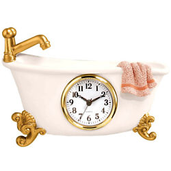 Old Fashioned Claw Foot Wall Clock Antique Vintage Style Bathtub Bathroom Decor