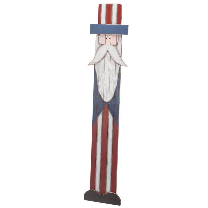 Uncle Sam Folding Wood Sign, Multi