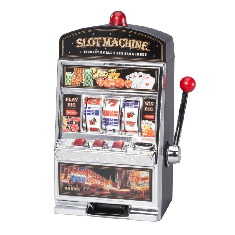 Large Slot Machine with Lights and Bank Las Vegas Casino MINI Slot Machine Toy