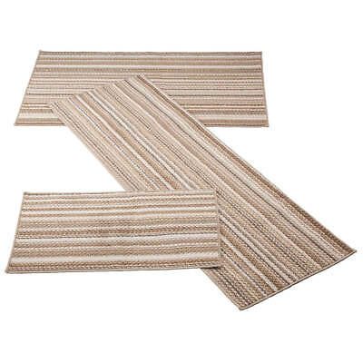 Berber 3-Piece Stripe Rug Set  ()