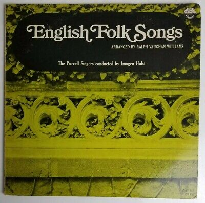 English Folk Songs  The Purcell Singers LP 6137 English Folk Song