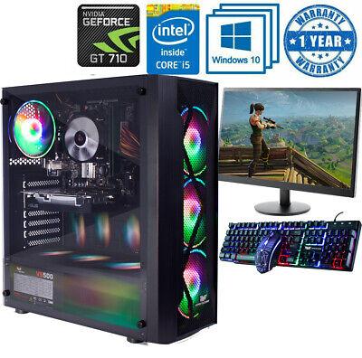 Fast Gaming PC Computer Bundle Intel Quad Core i5 16GB 1TB Windows...